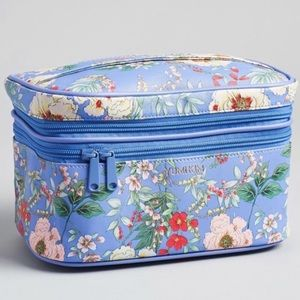 YUMI KIM Makeup Train Case in Peri Floral Print